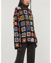 Ashish Sequin-embellished Faux-georgette Top - Multicolour