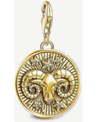 Thomas Sabo Aries Gold-plated Zodiac Charm - Metallic