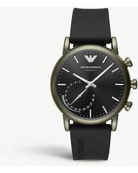 Emporio Armani - Art3016 Luigi Stainless Steel And Rubber Hybrid Smartwatch - Lyst