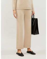 Theory Cashmere Drawstring Trousers - Natural