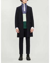 Sandro Apollo Single-breasted Wool-blend Coat - Blue
