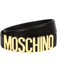 Moschino Women's Black Logo Belt