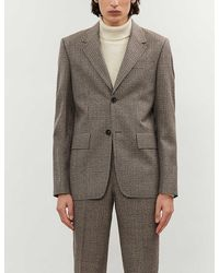 Sandro Notch-lapel Checked Wool Blazer - Multicolor