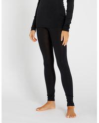 Hanro Skinny Wool And Silk-blend leggings - Black