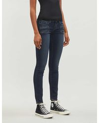 PAIGE Women's Nottingham Blue Edgemont Skinny Mid-rise Jeans