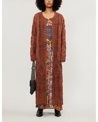 Free People Keep In Touch Relaxed-fit Cotton-blend Cardigan - Multicolour