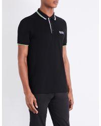 BOSS Green Paddy Regular Fit Polo - Black