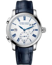 Ulysse Nardin - 3243-13-e0 Dual Time Manufacture Watch - Lyst