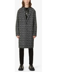 AllSaints - Remmington Check Wool-blend Coat - Lyst