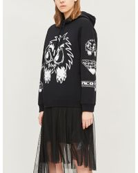 McQ - Monster-print Slogan Cotton-jersey Hoody - Lyst