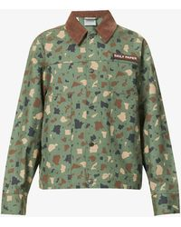Daily Paper Recamo Relaxed-fit Cotton Jacket - Green