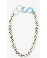 Martine Ali Cuban Chain Necklace - Blue