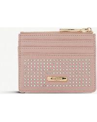 Dune 'kaciia' Studded Zip Top Card Holder - Pink