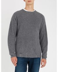 The Kooples - Distressed Cashmere Jumper - Lyst