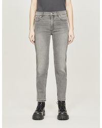 Zadig & Voltaire Elton Mid-rise Stretch-denim Jeans - Grey