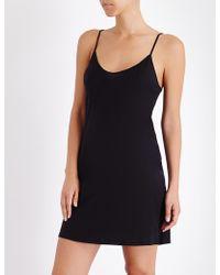 Skin 365 Cotton Short Slip - Black