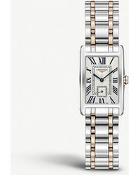 Longines L5.255.5.71.7 Dolcevita Stainless Steel And 18ct Rose-gold Watch - Metallic