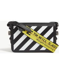 Off-White c/o Virgil Abloh Striped Mini Leather Cross-body Bag - Black