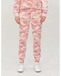 Calvin Klein Camouflage-print Cotton-jersey jogging Bottoms - Pink