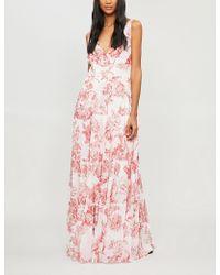 Oscar de la Renta - Floral-print Silk-chiffon Gown - Lyst
