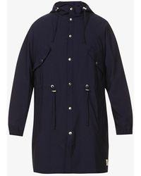 PREVU Mens Navy Salvatore High-neck Woven Hooded Parka Jacket M - Blue
