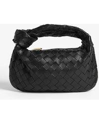 Bottega Veneta Intrecciato Leather Mini Hobo Shoulder Bag - Black