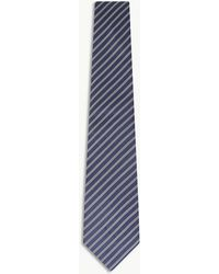 Gieves & Hawkes - Two-tone Diagonal Stripe Silk Tie - Lyst