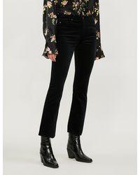 AG Jeans Jodi Cropped High-rise Denim Jeans - Black