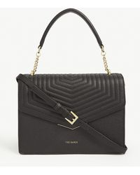 Ted Baker Brittni Quilted Leather Satchel - Black