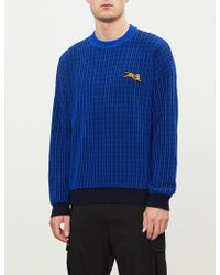 KENZO - Flying Tiger-embroidered Wool-blend Jumper - Lyst