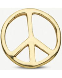 Loquet London Peace 18ct Yellow-gold Charm - Metallic