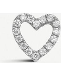 Loquet London Diamond Heart 18ct White-gold And Diamond Charm - Metallic