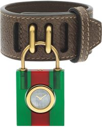 Gucci - Ya150505 Constance Mother-of-pearl And Leather Strap Quartz Watch - Lyst