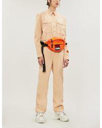 Heron Preston Worker Brand-embroidery Denim Jumpsuit - Multicolor