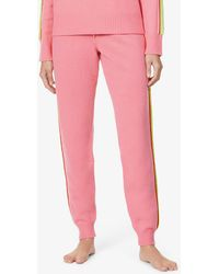 Chinti & Parker Ripple Side-stripe Tapered High-rise Wool And Cashmere-blend Trousers - Pink