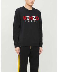 KENZO Men's Logo Typographic Sweatshirt - Black