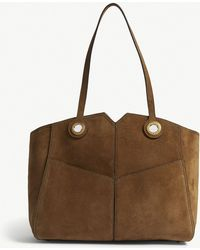 Sandro - Grand Suede Tote - Lyst