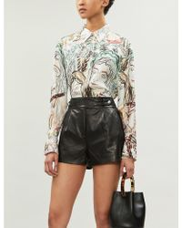 PAIGE Colima High-waist Leather Shorts - Black