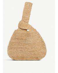 L.K.Bennett Taylor Raffia Knot Clutch Bag - Natural