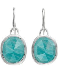 Monica Vinader - Siren Sterling Silver And Amazonite Wire Earrings - Lyst