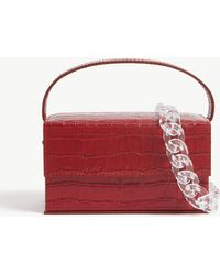 L'afshar Ida Croc-embossed Small Leather Top Handle Bag - Red