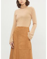 Theory - Bell-sleeve Turtleneck Cashmere Jumper - Lyst
