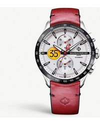 Baume & Mercier - Clifton Collection Burt Munro Stainless Steel And Leather Watch - Lyst