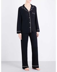 Eberjey Gisele Jersey Pyjama Set - Black