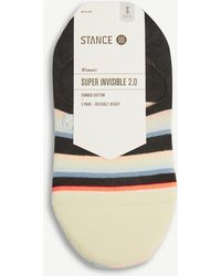 Stance Pack Of Three Super Invisible Cotton-blend Striped Socks - Multicolour