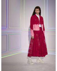 Dior Iviera Toile De Jouy Lace Midi Skirt - Multicolour