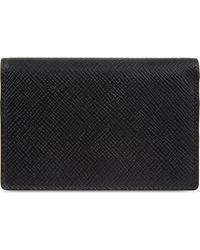Smythson Panama Cross-grain Leather Card Case - Black