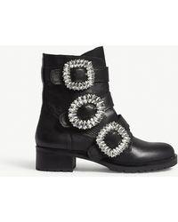 ALDO Dwoiviel Leather Ankle Boots - Black