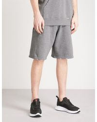 Givenchy - Logo-patch Cotton-jersey Shorts - Lyst