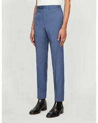 Sandro Mid-rise Tapered Stretch-wool Pants - Grey